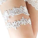 mimilive lace bridal garter set of 2 ivory wedding garters flower leaf style garter belts with
