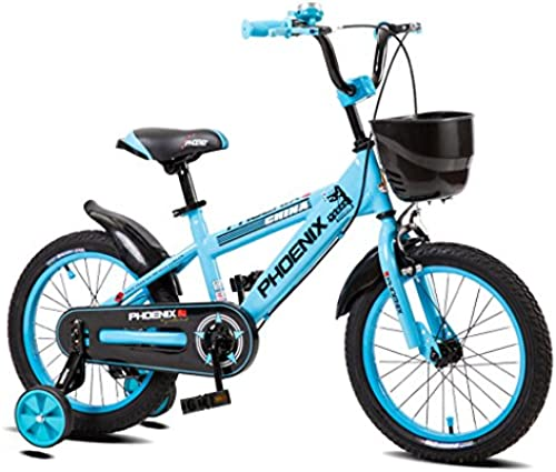 Xiaoping Kinder Fahrrad High Carbon Steel Kinder Fahrrad 14-Zoll Fahrrad 3-6 Baby Baby Carrier, Gelb Blau Rot