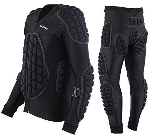 Schutzanzug für Motocross Skii Snowboarden Motorradjacke Hosen, M