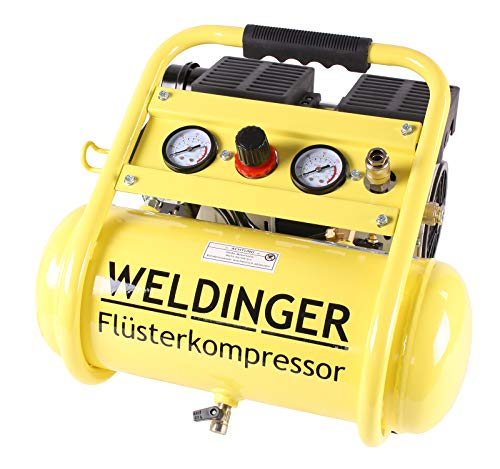 Aktionsset WELDINGER Flüsterkompressor FK 95 compact 750 W Luftabgabe 90 l ölfrei + Druckluftset 6-teilig - 2