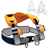 Shoulder Saddle Seat Carrier for Toddlers, Wearable, Hands-Free, Dual Safety System, Adjustable for Ages 2-5 Years, ON DADDY'S SHOULDERS by Romi Marketing