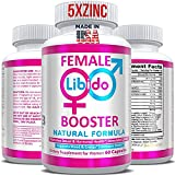 Natural Female Health & Vitality Booster Supplement Pills - Powerful Enhancement of Energy & Mood, Hormone Balance Complex for Women with Maca Root & Horny Goat Weed, Made in USA