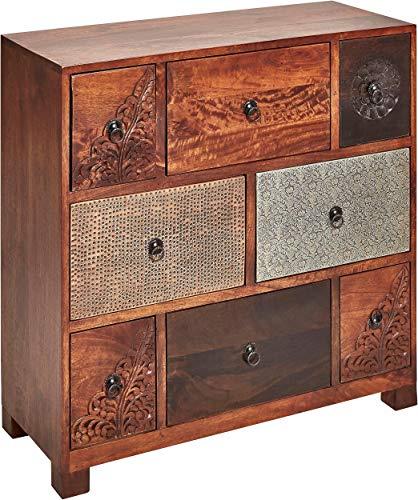 Kommode 6 Schubladen Schubladenkommode Sideboard Mangoholz Recycling-Holz handgemacht Vintage Look