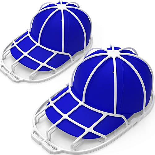 YEENOR Hat Washers, 2-Pack Baseball Caps Washers Hat Storage, Hat Holder Fit for Adult/Kid's Hat Rack Frame for Washer Machine Cleaner/Washing Cage, Hat Cleaning Shaper Protector