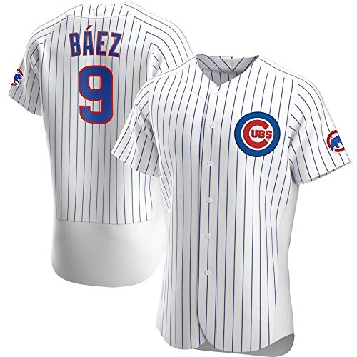 JMING Camiseta De Béisbol para Hombre, Cubs #9 Baez #44 Anthony Rizzo Aficionados Y Aficionados Uniformes De Béisbol, Camisetas, Uniformes De Juego, Camisetas Deportivas De Manga Corta (A2,L) ✅