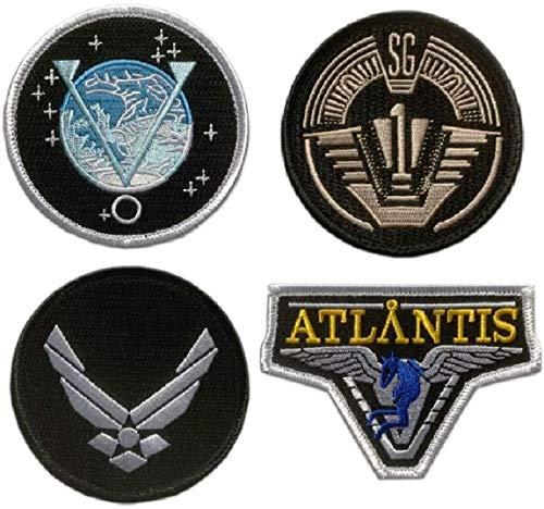 Stargate SG-1 Atlantis Uniform/Costume Patch [4pc Set Iron On Sew On]