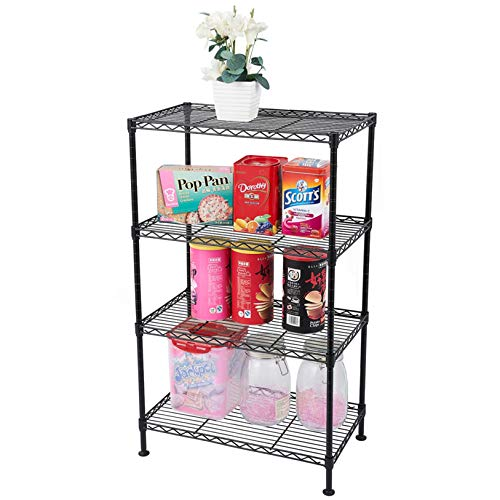 Adjustable 3-Tier Storage Shelf Wire Shelving Unit Free Standing Rack Storage Shelf 3-Shelf Metal Organizer Wire Rack, 23.22