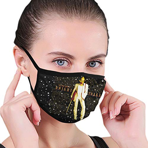 Bestrgi Balaclava Dust Face Cover Mask Neck Gaiter Mouth Guard The Very Best of Dwight Yoakam Seamless Reusable Bandanas Windproof Variety Head Scarf for Hiking Black