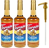 Torani Caramel Classic Syrup, 25.4 Ounce (3 Pack) Plus 1 Syrup Pump
