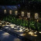 Énergie solaire Eclairage Lanterne Lampe de jardin solaire Lampe de décoration de jardin Ensemble de 6 pièces Lampe solaire LED Lumière de chemin étanche décoration éclairage pour paysage