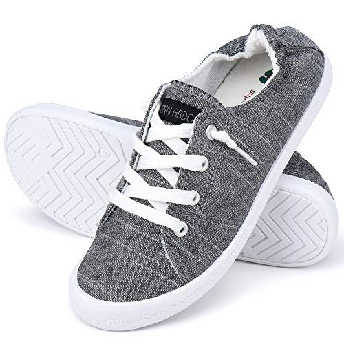 JENN ARDOR Women's Canvas Shoes Low Top Classic Slip-On Lightweight Comfort Fashion Sneakers for Walking
