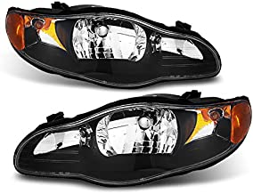 For Chevy Monte Carlo Amber Black Replacement Headlights Driver/Passenger Head Lamps Pair New