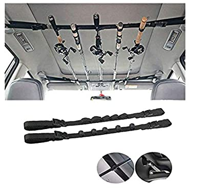 iMunir Vehicle Fishing Rod Rack,Car Fishing Rod Holder Strap,Fishing Pole Carrier Storage Rack for SUVs Wagons and Vans