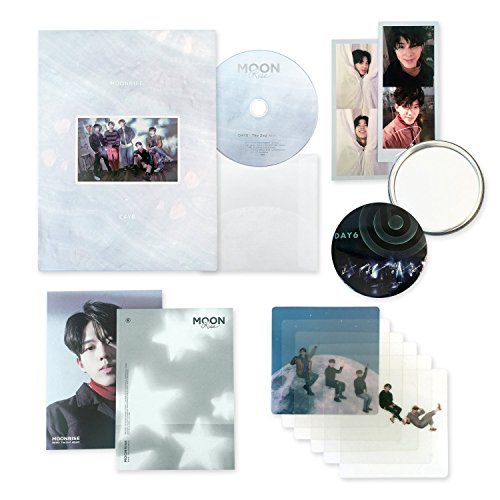 DAY6 2nd Album - Moonrise [ GOLD MOON Ver. ] CD + Photobook + Folding Poster + Clear Cover + Photocard + FREE GIFT / K-POP Sealed