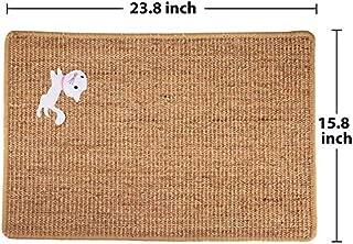 Natural Sisal Cat Scratcher Mat, Anti Slip Cat Scratching Mat, Cat Scratching Pad Carpet for Cat Grinding Claws & Protecting Furniture