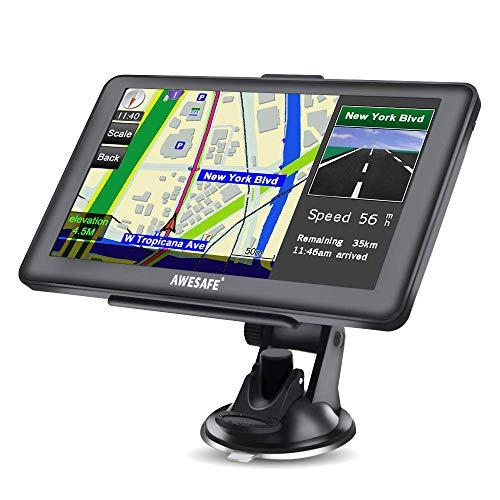GPS Voitures 7 Pouces Écran Tactile, avec Cartes gratuites...