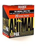 Animal Pak - The Complete All-in-one Training Pack - Multivitamins, Amino Acids, Performance Complex and More - for Elite Athelets and Bodybuilders - Orange - 20 Stick Packs