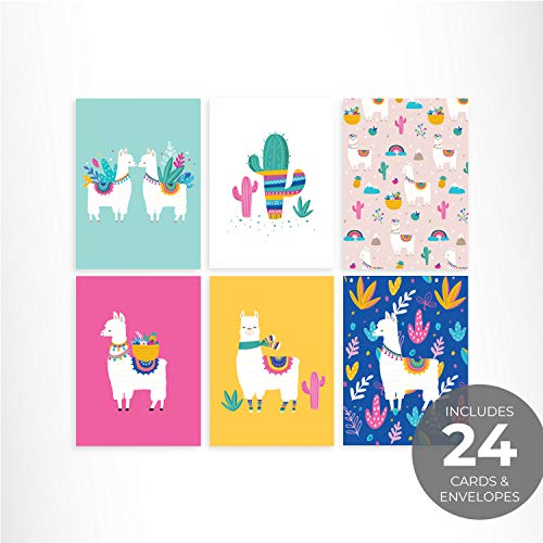 Llama Notecards/Alpaca Note Card Set / 24 Cards and Envelopes
