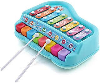 2 in 1 Piano Baby kids Xylophone Piano Toys Educational Musical Instruments Preschool 8-Knock-key and 8-Playing-key multi-...