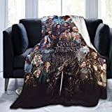 HelloMars Blankets Game of Supreme Thrones Fleece Flannel Ultra-Soft Throw Blankets for Couch & Bed Adults Children