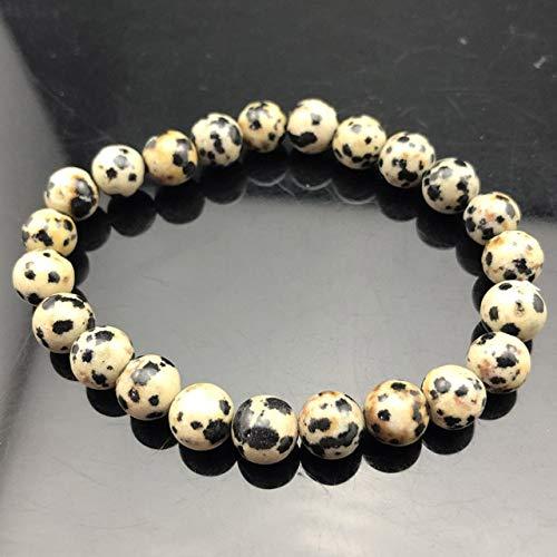 JIANGLAI Pulsera de cuentas de chakra para hombre, 8 mm, piedra natural, ojo de tigre de lava mate negro ónix cuentas estiramiento encanto yoga mujeres joyas
