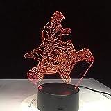 Lámpara LED de renderizado 3D Symphony 7 colores Mountain Quad Bike Tienda familiar Ambiente romántico niños amigos regalos de vacaciones