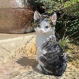 SXLZ Décoration De Jardin Animal Chat Mignon Sculpture Décoration De La Maison Jardin Extérieur Paysage