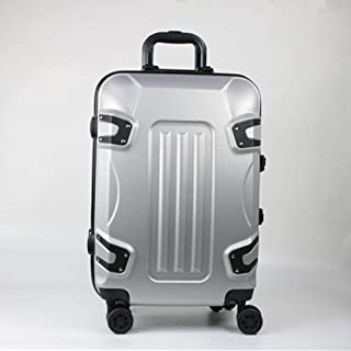 ABS Aluminum Alloy Trolley Case Custom Lock Mute Universal Wheel Luggage Gray 20 Inch
