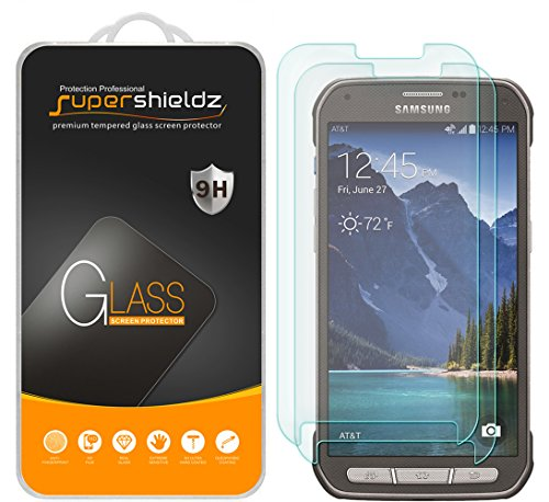 (2 Pack) Supershieldz Designed for Samsung (Galaxy S5 Active) (Not Fit for Galaxy S5) Tempered Glass Screen Protector, Anti Scratch, Bubble Free