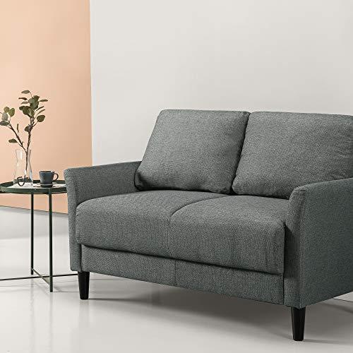 ZINUS Jackie Loveseat Sofa, Contemporáneo, Montaje fácil sin herramientas, Brazos acampanados, Patas cónicas, Sofá en una caja, Verde piedra