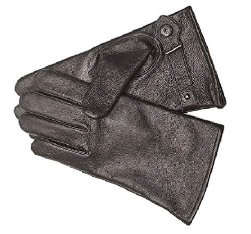 DD-Tackle BW Ziegenleder Handschuhe Leder S-M-L-XL-XXL-3XL schwarz gefüttert Bundeswehr Fingerhandschuhe Lederfingerhandschuhe (Größe: 9 (L), Schwarz)