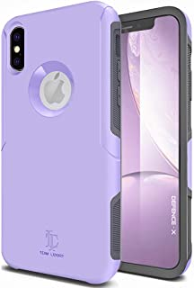 TEAM LUXURY [Defense-x Series Case for iPhone X & iPhone Xs, Dura Layer Shock Absorbing Technology Protective Phone Case 5.8 Inch - Lavender Purple