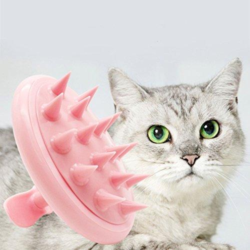 Gugutogo - Pennello per Massaggi per Cani e Gatti, con Impugnatura Antiscivolo