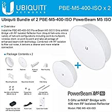 Ubiquiti PBE-M5-400-ISO 2-PACK PowerBeam M5 25dBi ISO 5GHz AirMAX 400mm 25+km