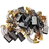 Sipery 30Pcs Spring Carbon Brush 17x10x6mm Angle Grinder Carbon Brushes 103A Replacement for Electric Rotary Motor Tool