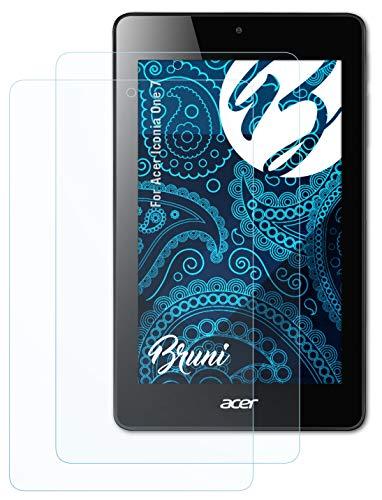 Bruni Schutzfolie kompatibel mit Acer Iconia One 7 Folie, glasklare Bildschirmschutzfolie (2X)