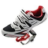 Venzo Road Bike Compatible with Shimano SPD SL Look Cycling Bicycle Shoes & Pedals 43