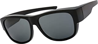 High Definition Polarized Wrap Around Shield Sunglasses for Prescription Glasses - Gift Box Package