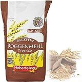 Roggenmehl 25kg Type 997 | Hochwertiges Mehl - gentechnikfrei und pestizid-kontrolliert | Ideal zum Backen von Brot, Lebkuchen und Gebäck