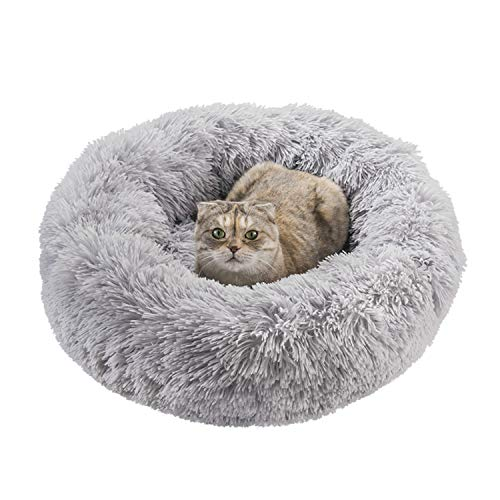 Soft Comfortable Faux Fur Donut Cuddler Pets Bed $16.50 (50% Off with code)