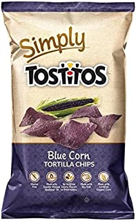 Natural Tostitos Blue Corn Tortilla Chips Made with Certified Organic Corn, 9 Ounce (Pack of 3)