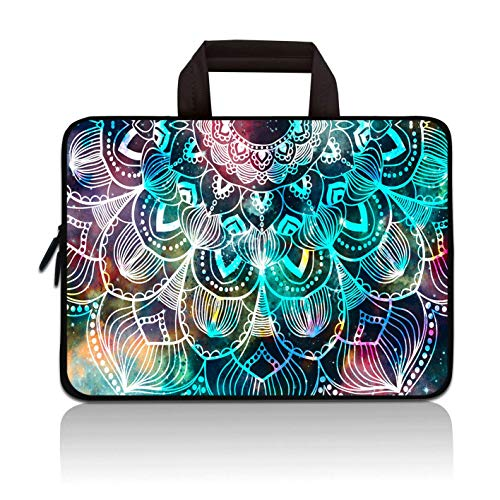 RUYIDAY 11 11.6 12 12.1 12.5 inch Laptop Carrying Bag Chromebook Case Notebook Ultrabook Bag Tablet Cover Neoprene Sleeve Fit Apple MacBook Air Samsung Acer HP DELL Lenovo Asus (Mandala Arts)