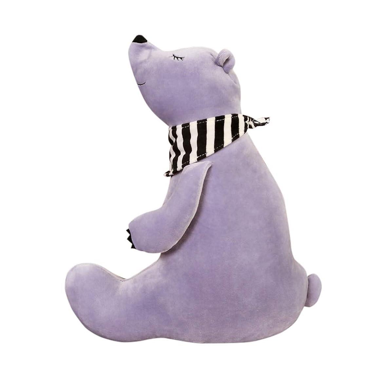 命令代表する出席する熊 ぬいぐるみ 抱き枕 動物 キャラクター かわいい 柔らかい ふわふわ もちもち 癒し系 お人形 抱きクッション 置物 添い寝 お誕生日 お祝い クリスマス 子ども 彼女彼氏へ プレゼント イベント インテリア パープル 60cm