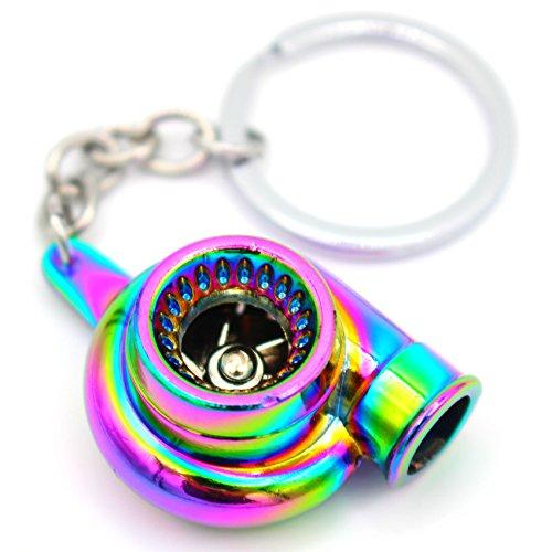 VmG-Store Turbo Flip Flop Schlüsselanhänger mit drehendem Verdichterrad