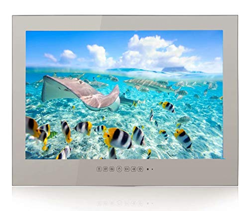Elecsung Smart Mirror TV for Bathroom, Hotel, Kitchen 32 inch LED TV IP66 Waterproof with Integrated HDTV (ATSC) Tuner, HD Ready