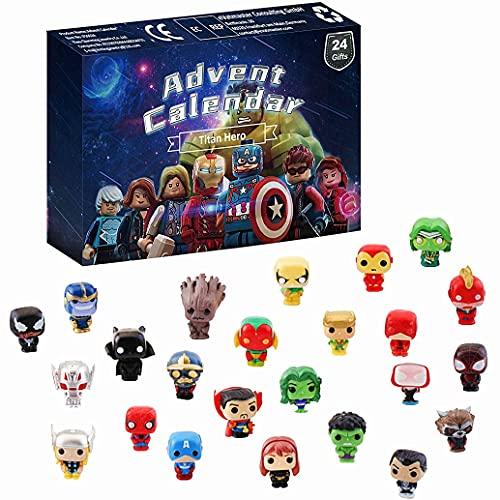 Figuras De Acción De Superhéroes Calendario De Adviento 2021 Juego De Juguetes, Caja Ciega Sorpresa Digital Dibujos Animados De Superman Figuras Packs Regalos Sorpresa Para Navidad Regalo Para Niños