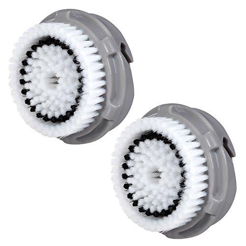 2 x cabezas de cepillo E-Cron. Cabezal de cepillo compatible para la limpieza facial para la piel normal de Clarisonic (Normal).