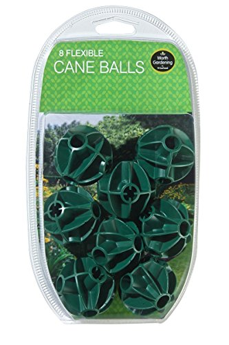 3XFlexible Cane Balls Pack Of 8 For Garden Fruit Cages and Netting Frames