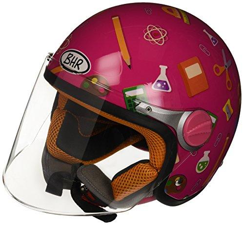 BHR Junior 713 94121 Casco da Bimbo, YL, Multicolore (Scuola Fucsia)