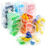 36 Pairs Silicone Corded Ear Plugs with Case Reusable Ear Plugs with String for Sleeping Snoring Swimming, Waterproof Ear Plugs Noise Cancelling and Hearing Protection